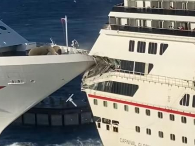 Messico, collisione tra due navi da crociera della Carnival Cruise Line in porto a Cozumel - VIDEO